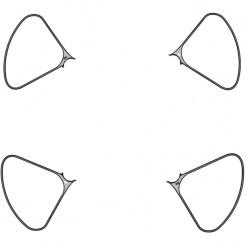 Set arcuri de protecție elice pentru DJI Phantom 4 Pro Obsidian Edition