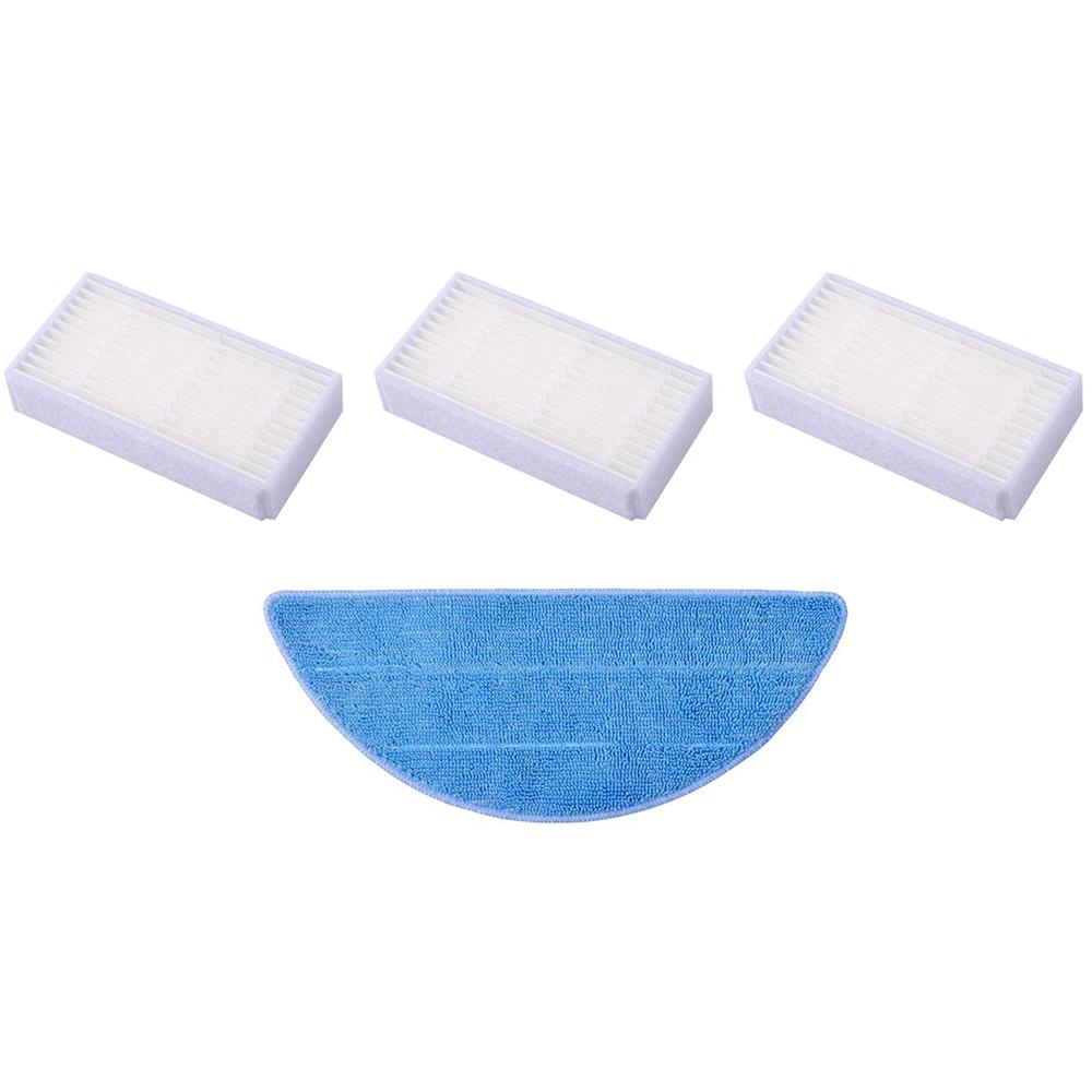 Set de filtre HEPA și textil pentru șters pentru Tesla RoboStar T10/T30/T40