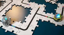Puzzle din lemn pentru Ozobot