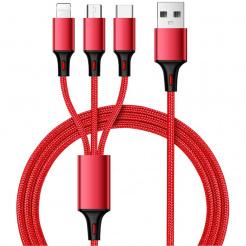 Cablu USB de încărcare și sincronizare 3 în 1