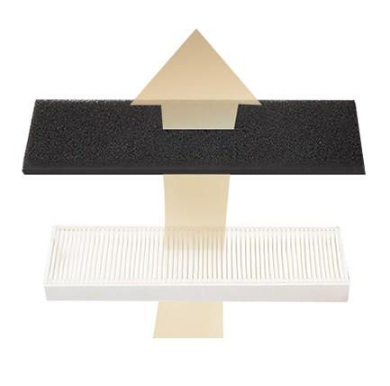 Filtrare dublă - filtrul cu design HEPA captează chiar praful fin și alergeni