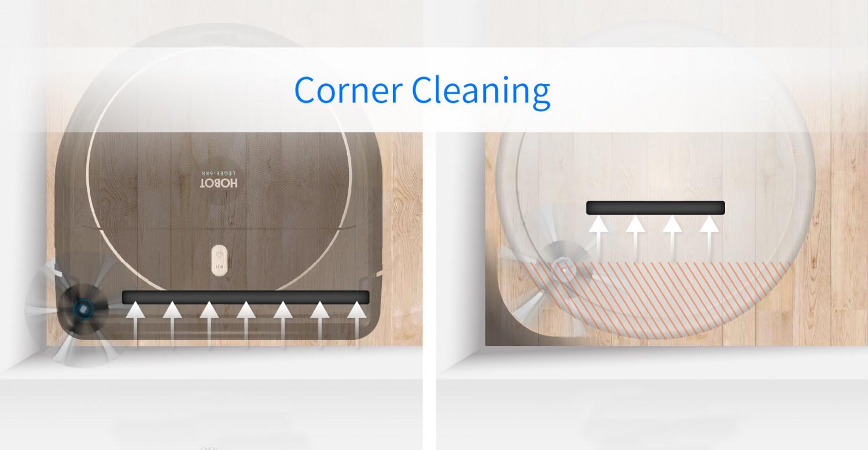 Design în formă D cel mai bun pentru curățarea colțurilor
