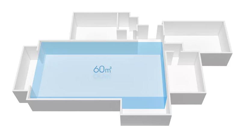 Zona de aplicare până la 60 m²