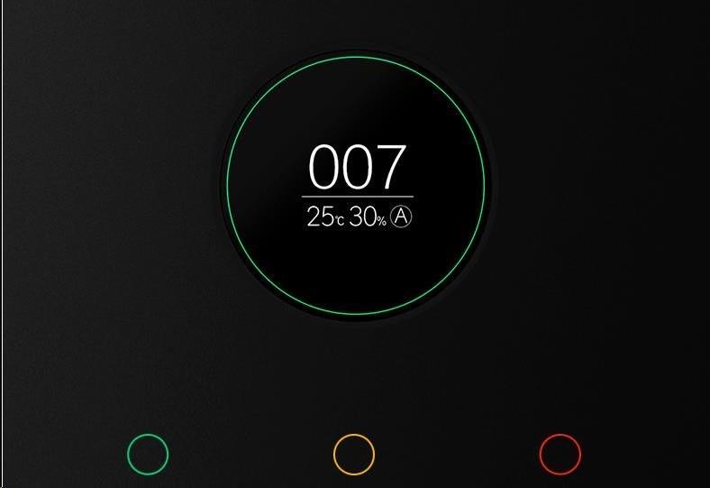 Trei culori ale indicatorului ecranului