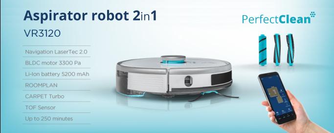 Prezentarea aspiratorului robot Concept VR3120 2in1 Perfect Clean Laser