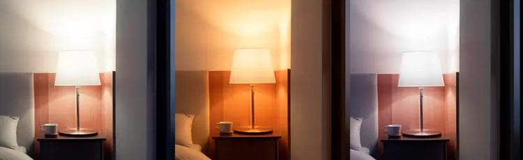Luminozitatea și temperatura culorii sunt reglabile