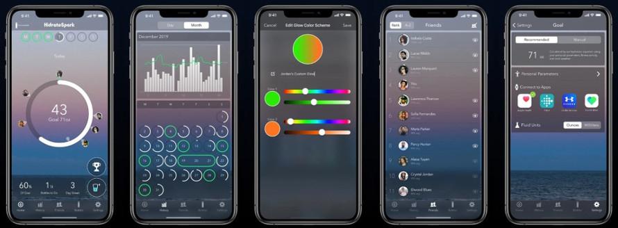 Sticlă inteligentă cu aplicație mobilă
