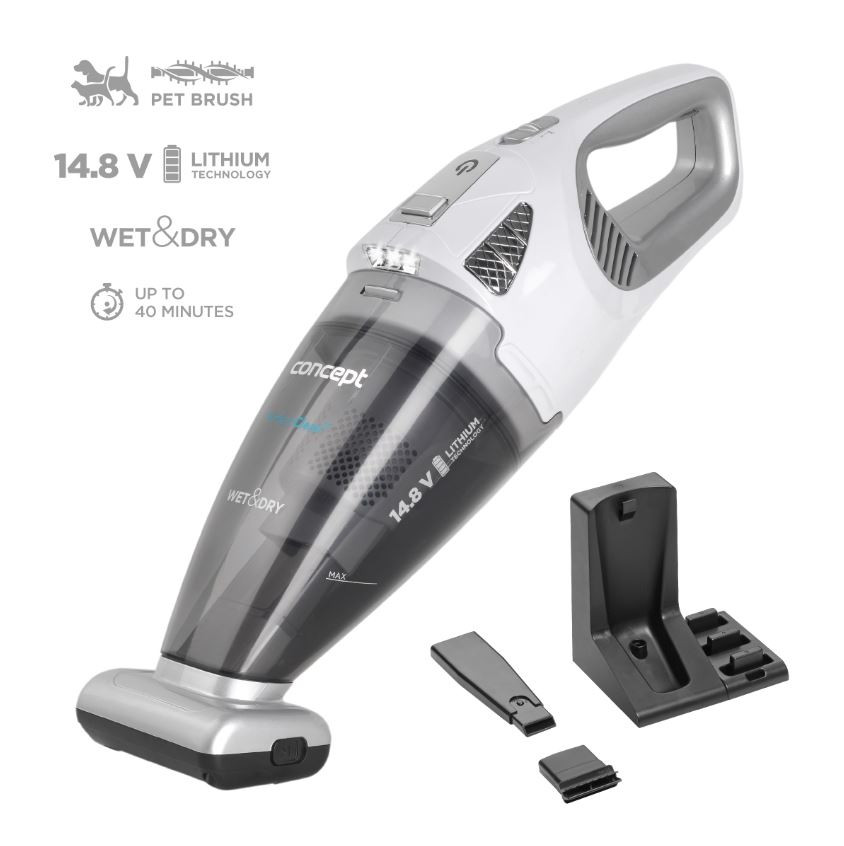 Prezentare aspirator de mână Concept VP4370 Wet & Dry Perfect Clean